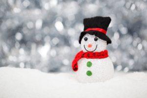 Snemand i snevejr