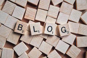 blog bogstaver i træ